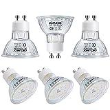 DiCUNO Bombilla LED GU10, 7W, 700LM, Blanco cálido 2700K, Equivalente de halógeno 70W, Bombilla para foco LED GU10, No regulable, 100-240V, Ángulo de haz 120 °, 6 Piezas
