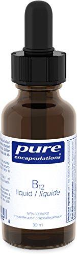 Pure Encapsulations - B12 liquid - Hypoallergenic Methylcobalamin Liquid - 30 ml Liquid