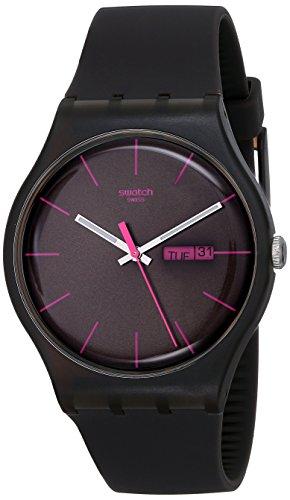 Swatch SUOC700 - Reloj de Caballero de Cuarzo, Correa de Caucho Color marrón