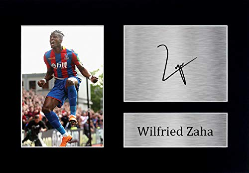 HWC Trading Wilfried Zaha Gift Signed A4 Printed Autograph Crystal Palace FC Gifts Photo Display