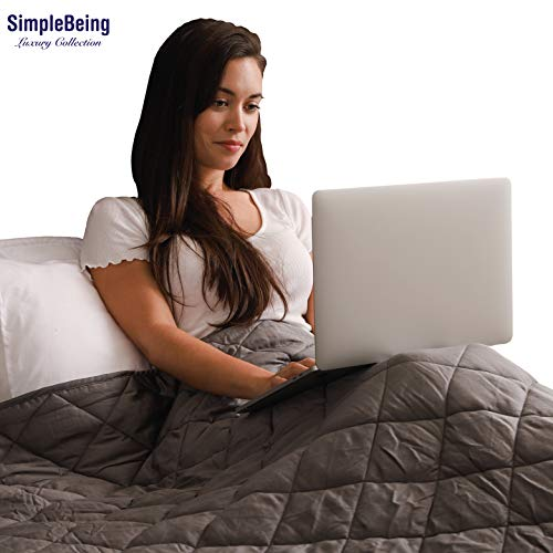 Simple Being Weighted Blanket, 48x72 15lb, Patented 9 Layers...