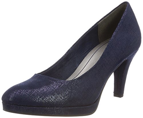 Marco Tozzi Damen 22404 Pumps, blau (navy metallic), 39 EU