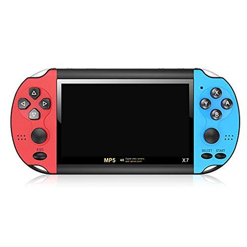 Consola de juegos portátil retro, 4,3 pulgadas 8GB HD Consola de videojuegos clásica portátil incorporada 3000 juegos, consola de juegos multifunción con reproductor MP4 para regalo de niños adultos