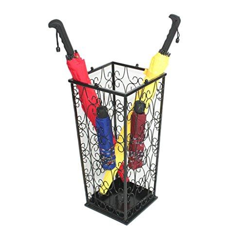 Porte-parapluies Support de Parapluie Droit à la Maison Seau de Parapluie de Fer d'hôtel étagère Noire de Parapluie de Bureau