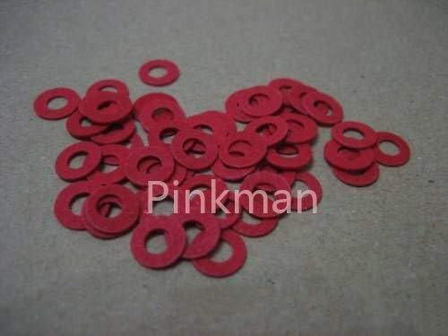 Vivona Gaskets 1000 Pcs quality assurance safety M4.5 4.5x7.5x0.8mm Fiber Insulating Red