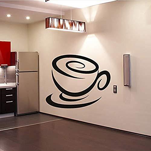 Art Muursticker Vortex Koffie Cup Vorm Keuken Home Decor Accessoires DIY Verwijderbare Vinyl Muursticker Sticker Lijm 50X44Cm