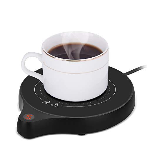 2020年の新しいコーヒーカップウォーマーとオフィスウォーマー、5つの温度設定を備えた電気飲料ウォーマー、ココアミルク用のコーヒーウォーマー、オフィス用の自動オン/オフ重力センサーウォーマー、キャンドルワックスカップ、コーヒー 、 水/牛乳/お茶/コーヒードリングなど飲み物(最大80°C)(黒)