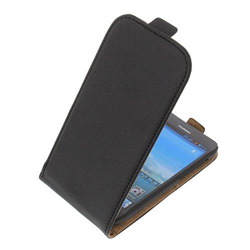 foto-kontor Tasche für Huawei Ascend Y600 Flipstyle Schutz Hülle Handytasche schwarz
