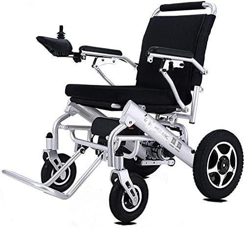Silla de Ruedas eléctrica, batería de Litio Plegable eléctrica portátil de la Silla de Ruedas eléctrica para discapacitados para Ancianos de la Scooter Inteligente automática