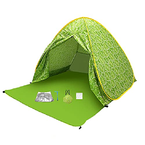 Tienda De Playa, Pop Up 3-4 AutomáTico De Sun Refugio UV ProteccióN De Viento A Prueba De Viento para La Pesca Al Aire Libre Pesca Picniccushion A Prueba De Humedad + USB Ventilador De Mano