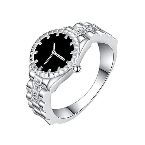 anillos, anillos de articulación, plateado de metal. Relojes creativos, 5 tamaños, adecuados como regalo festivo