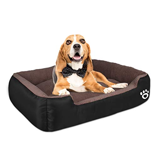 Warmer Pet Dog Beds for Small/Medium/Large Dog,Rectangle Pet Bed Thickened Enough with Soft Coral Fleece and Non-Slip Bottom ,Durable Dog Sofa Couch Pet Bed