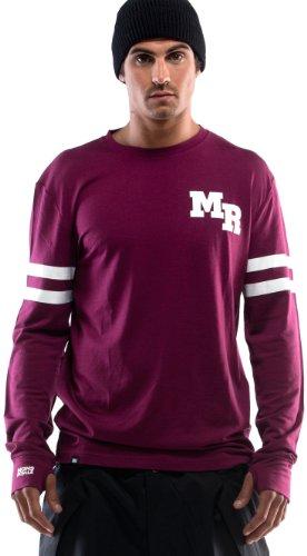 Mons Royale Original T-Shirt à Manches Longues pour Homme Violet Prune XL