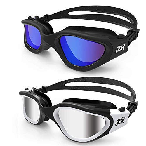 ZIONOR Swimming Goggles, 2 Packs G1 Polarized Swim Goggles UV Protection Watertight Anti-fog Adjustable Strap for Adult Men and Women...