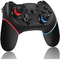 Inalámbrico Mando para Nintendo Switch, RegeMoudal Bluetooth Controlador para Switch, Switch Gamepad Joystick con Batería Recargable, Vibración, Turbo, Giroscopio Función para Switch/ Lite