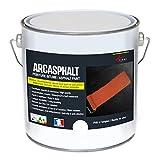 Peinture bitume goudron asphalte macadam résine sol extérieur béton enrobé rénov décoration ARCASPHALT - Blanc - 3.75 Kg pour 7.5m2 en 2 couches - ARCANE INDUSTRIES