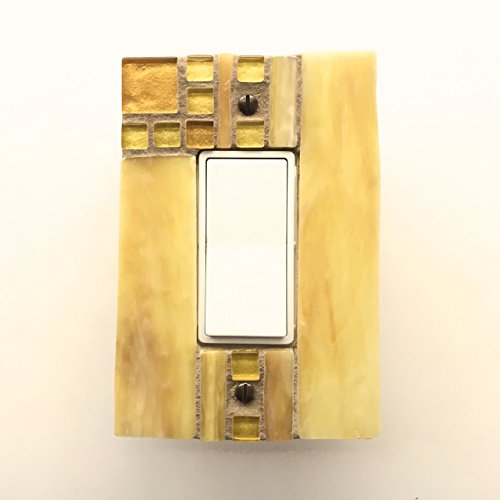 Decora Rocker Switch Plate, Yellow Light Switch Cover, Decorative Switch Plate Cover, Dimmer Cover Plate, Outlet Cover, Wall Switch, 8752