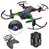ATOYX Drone con Cámara, 720 HD Drone Plegable con App WiFi FPV , Altitud Hold, Modo sin Cabeza, Una Tecla de Despegue y Aterrizaje de Gravedad RTF, Mejor Regalo,AT-146