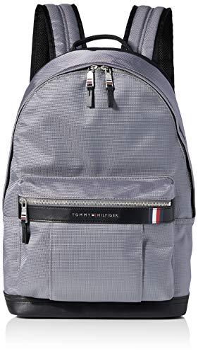 Tommy Hilfiger Herren Elevated Nylon Backpack Rucksack, Grau (Concrete Grey), 1x1x1 cm