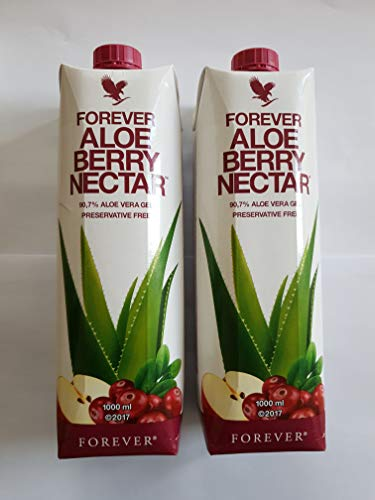 Forever Aloe Vera Nektar Berry, Trinkgel, versiegelt, 2 x 1 Liter
