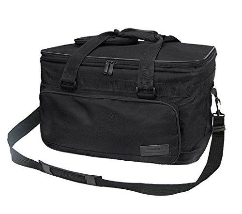 Capiente borsone in tessuto per trasportare strumenti per il disegno, organizer per schizzi, borsa da viaggio impermeabile per palette, pennelli, penne, matite, libri, Black, taglia unica