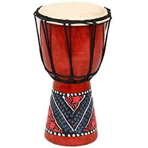 KINOKINO ジャンベ アフリカン ドラム 民族 楽器 打楽器 パーカッション (ランダムカラー 約10cm)