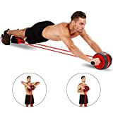 KOGNITA Abdominal Roller Exercise Equipment - Ab Roller Wheel with Resistance Band,Core Workout...