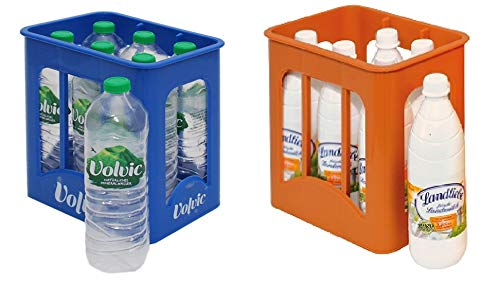 Christian Tanner 0072.6 - Getränke Set bestehend aus 6 Volvic Kiste und 6 Landliebe Milchkiste