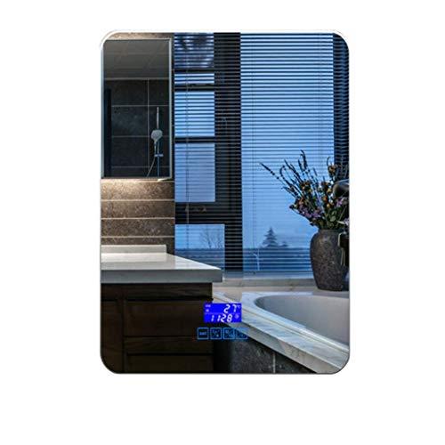 Espejo de pared Artículos for el hogar y del LED con luz de baño Espejo de pared de montaje en pared Espejo con luz antiniebla botón táctil ajustable blanca / caliente de las luces blancas (color: Niv