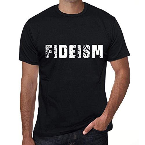 fideism Mens Vintage T Shirt Black Birthday Gift 00555 CasualUltrabasic