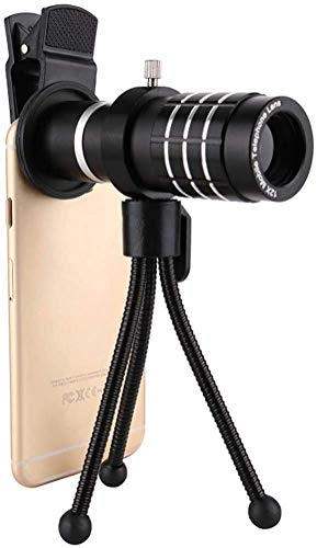 Great Price! TEHWDE 12X Mobile Phone Monocular Telephoto Lens High Power HD Monocular Universal Meta...