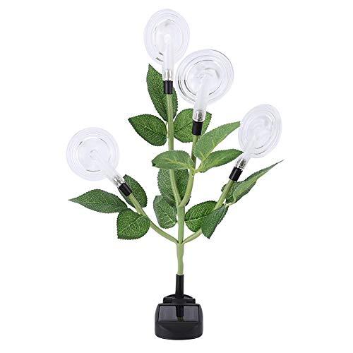 4 LED zonne-energie bloemen lichten unieke snoepvorm kleurrijke LED Solar Garden Light voor gazon landschap decoratieve lamp MEERWEG AANBIEDING