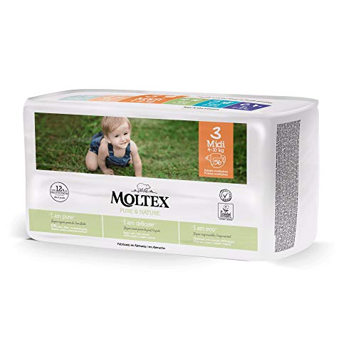 ?Pañales Moltex Pure & Nature T3 (4-10 kg) 56 uds