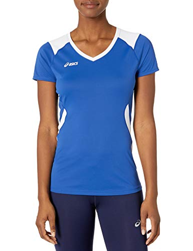 ASICS Women's Set Jersey, Blue, Small