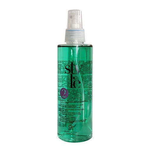 Style - Finish Gel Spray Disciplinante - Gel Spray Professionale a Tenuta Media per Capelli Indisciplinati per Modellare l'Acconciatura e Scolpire Singole Ciocche - 200 ml