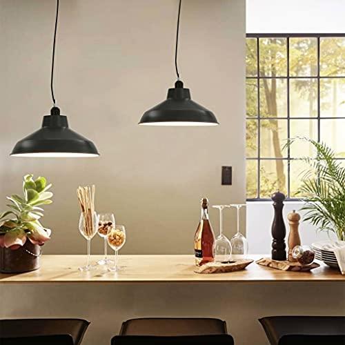 Lámpara de techo, lámpara de araña, sombra de luz, lámpara de luz colgante, iluminación, fixtur, lámparas colgantes, 2 piezas, gris, redondo, E27