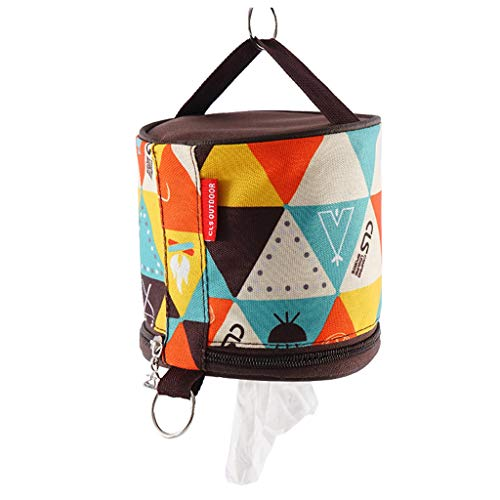 HOT1950s Outdoor Camping Toilet Paper Storage Holder Tissue Roll Hanging Cover with Hook,Roll Case Boxes Tissue Cover Hanging Hanger Bags for Camping Tent (Coffee)