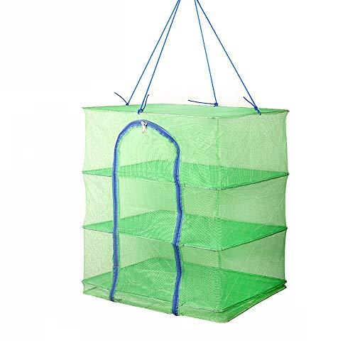 ChenCheng Fischernetz-Wäscheständer, grüner Bambusfaser-Wäscheständer, 3 Größen zur Auswahl /@ (Size : 56x40x60cm)