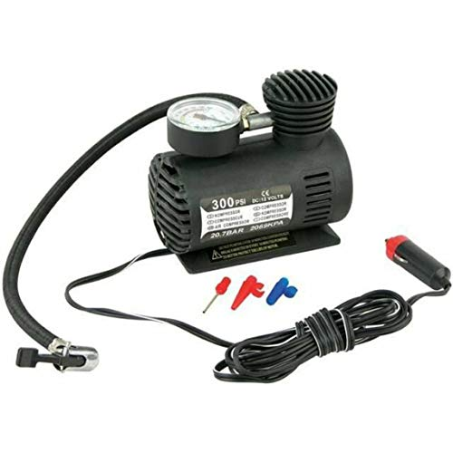 Inflador de neumáticos de coche Dc12V 300Psi Auto Mini compresor de aire Bomba de neumáticos con manómetro para coche, bicicleta, motocicleta