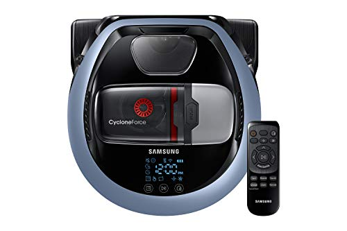 Samsung VR7000 VR1DM7020UH/EG POWERbot Saugroboter (80W extra starke Saugkraft, ideal für Teppiche und Tierhaare, saubere Ecken, Intelligente Navigation, Fernbedienung, Startzeit-Vorwahl) blau