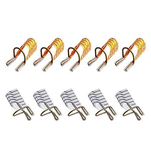 Nagelkunst-Spitzen zum Verlängern, goldfarben, wiederverwendbar, UV-Gel-Acryl, 10 Stück (goldene 2 Box)