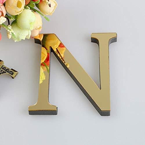 FICI 3 STKS Engels Letters DIY Acryl Muursticker Decals Oppervlak Modern Home Decor Muurschildering Meubilair Stickers, N (zwart)