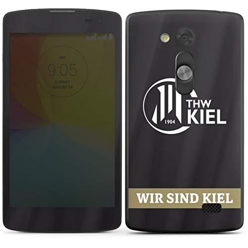 DeinDesign Folie kompatibel mit LG L Fino Aufkleber Skin aus Vinyl-Folie Fanartikel THW Kiel Handball