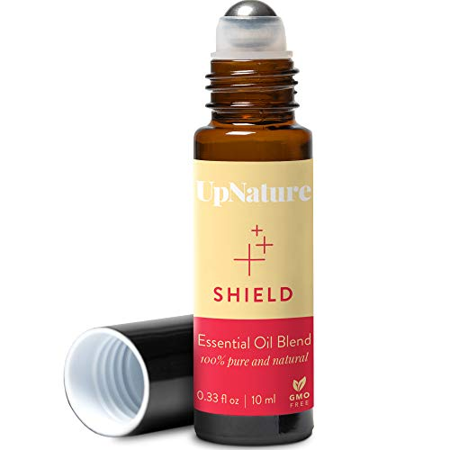 Shield Essential Oil Roll-On Blend - Germ Fighter, Keep Your Defenses On Guard – Pre-Diluted, Aromatherapy, Therapeutic Grade – Perfect Stocking Stuffer! (10ml/.33)