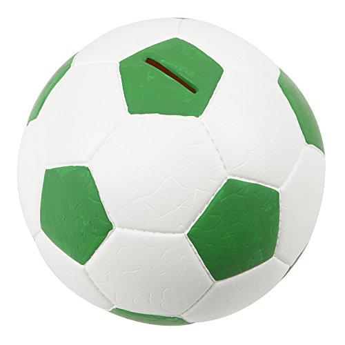 HMF 4790-06 Spardose Fußball Lederoptik 15 cm Durchmesser, grün weiß