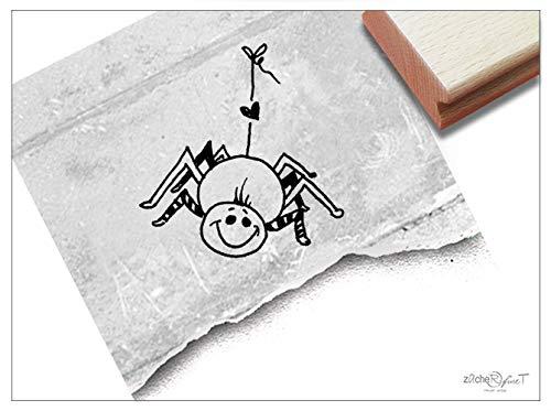 Stempel SPINNE Halloween - Kinderstempel Tierstempel Kita Kinderzimmer Schule Basteln Scrapbooking Geschenk für Kinder - zAcheR-fineT