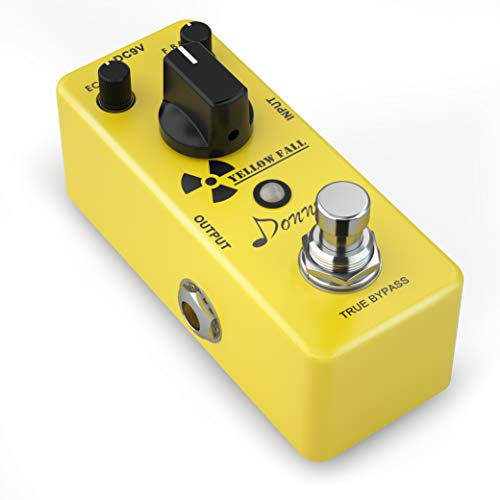 Donner Yellow Fall Delay Pedal, Delay Guitar Effects Pedals Mini Pedal Compact Size Pedal True Bypass