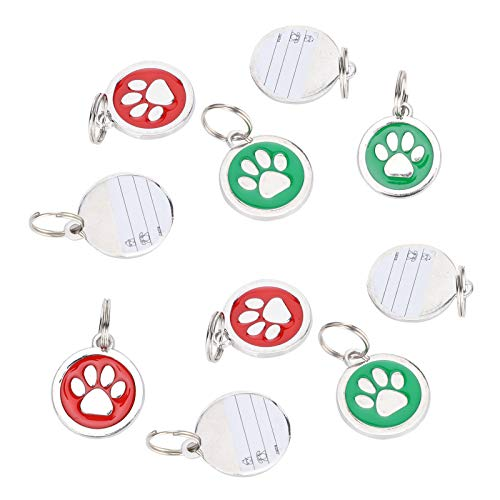 Pet Tag, Pet Name Label, Footprint Form Metall für Pet Dog Cat(Random colors for footprints)