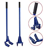 Yaheetech Steel Pallet Buster Tool Pallet Pry Bar Gear Pry Bar Rack - Pallet Breaker Deck Wrecker Demolition Crowbar 44in Blue
