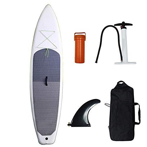 JIEJIE 12.6in Permanente Inflable Portable Paddle Junta de PVC de Alta Densidad importada Cepillado de Tela Me Tabla de Surf QIANGQIANG